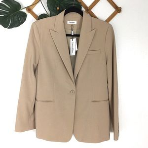 Calvin Klein | NWT Tan Career Blazer Jacket 12